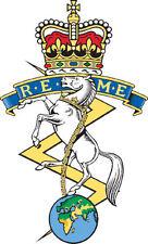 Incorniciato militare britannica stampa Insignia -- ROMA (CAP badge ESERCITO ARTE ELETTRICO)