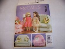 """McCalls MP322 18"""" GIRL DOLL CLOTHES,PILOW,CHAIR AND LOVESEAT UNCUT"""