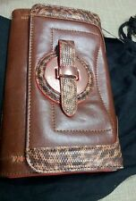 Mimco Stunning Brown animal print  Antique Gold  Wallet clutch hand bag  Bnwt