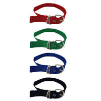 Adjustable Nylon Dog Collar with Metal Buckle Dog Training