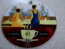 "Classic No 5 Blend Caffe Expresso Glass 15"" Clock Face London, Big Ben"