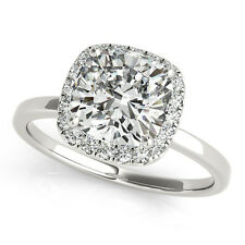0.20 CT CUSHION DIAMOND HALO SEMI-MOUNT ENGAGEMENT RING