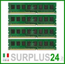 KIT RAM 8Gb (4x2Gb) PC3-10600U DDR3 1333Mhz 240pin Memoria x DESKTOP No Ecc