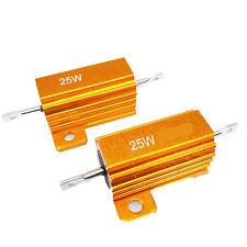 US Stock 2x 250 ohm 250R 25W Watt Aluminum Housed Metal Case Wirewound Resistors