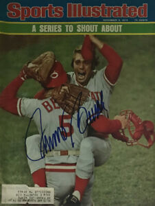 JOHNNY BENCH Autographed Signed Sports Illustrated Magazine Reds HOF 11/3/1975