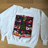 NWT Vintage Art to Wear Christmas Sweater Sweatshirt Made in USA One Size