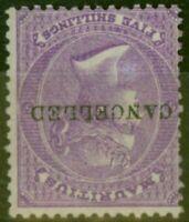 Mauritius 1865 5s Brt Mauve SG72w Wmk Inverted Cancelled Remainder Fine Mtd Mint