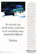 1996 Oldsmobile Bravada Original Advertisement Car Print Ad J510