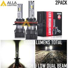 Alla Lighting S-HCR 9007 Headlight Bulb Super Bright White Replacement, Slim Fan