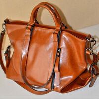 Women Fashion Handbag Lady Shoulder Bag Tote Purse Oiled Leather