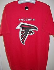 ATLANTA FALCONS UNISEX ADULT LARGE ( L ) RED TEE-SHIRT WITH TEAM NAME AND LOGO