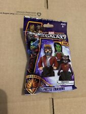 Guardians Of The Galaxy Puzzle Erasers [NEW & SEALED]