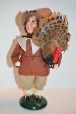 Byers' Choice Pilgrim Boy with Turkey