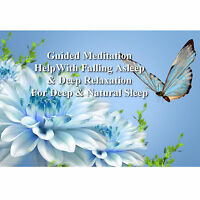 2x Guided Meditation For Deep Natural Sleep & Deep Relaxation on 1 CD Heal Peace