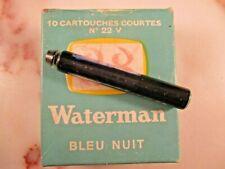 Waterman fountain pen glass cartridge ink refill vintage No. 22 V. C.1937