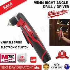 Milwaukee 12V Right Angle Cordless Driver Drill Skin 10mm Fits 95mm Head C12RAD