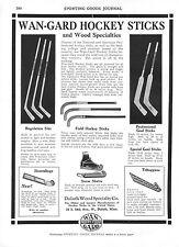 Wan-Gard Hockey Sticks  -  Skates   -    Drybak Corp.  -  Hunting Clothes  -1929