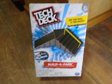 TECH DECK--BUILD A PARK--GRAY & BLACK KICKER TO 6 STAIR RAIL (NEW)