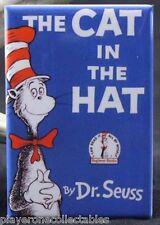 "The Cat in the Hat Book Cover 2"" X 3"" Fridge / Locker Magnet. Dr. Seuss"