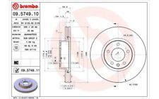2x BREMBO Discos de freno delanteros Ventilado 296mm Para OPEL OMEGA 09.5749.11