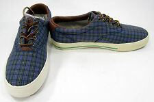 Polo Ralph Lauren Shoes Vaughn Athletic Canvas Tartan Print Sneakers Size 9