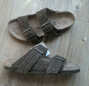 Birkenstock Rick Owens Sandals EU 40 Womens 9-9.5N Rare Army Wool Felt