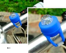 2x Blue Bike Bicycle Silicone Frog Rear Light Safety Warning Wheel LED Lamp