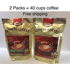 2 X CNI Ginseng 3in1 Instant Coffee with Panax Ginseng Extract Total 40 Sachets