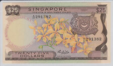 Singapore Orchid $25 HSS with seal A/27 291382 UNC Yellow Paper