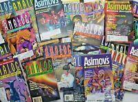 Analog & Asimov's Science Fiction Magazine Lot of 36 Issues 1989 - 2006
