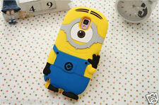Despicable Me II Minion 1 Eye Gray Silicone 3D Case for Samsung Galaxy S5 i9600