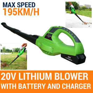 Blower 20v Cordless PRO Leaf Grass Garden Blower 2 Speed, With Battery & Charger