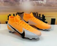 Nike Mercurial Superfly 7 Pro FG Soccer Cleat White Orange AT5382-801 Multi Size