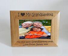 Grandparents- I heart-Love My Grandparents 6 x 4 Photo Frame- Free Engraving