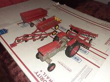 5pcs Vintage 1960's Massey Ferguson 175 Diesel Tractor 1/16 Ertl Made In USA