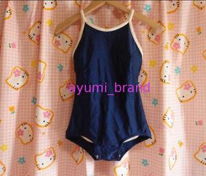 SS07 ^_^ Japanese SchoolGirl Swimsuit. Navy. Perfect! Size L. FootPrint