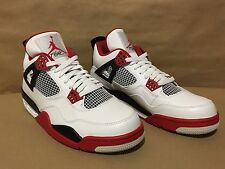 308497-110 Air Jordan 4 Retro White/Varsity Red-Black Size 10.5 2012 Release