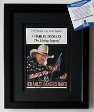 CHARLIE DANIELS signed BECKETT BAS CERTIFIED autograph country music band COA