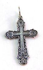 Cross Orthodox Old Slavic Jesus Christ Crucifix sterling silver 925 #10