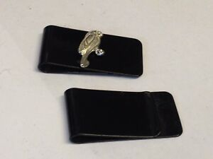 Parrot TG327 Fine English Pewter on a Money Clip Black