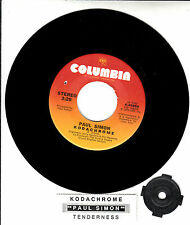 "PAUL SIMON  Kodachrome & Tenderness 7"" 45 rpm record + juke box title strip NEW"