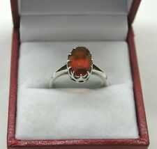 Vintage Silver And Large Citrine Ladies Fashion Ring