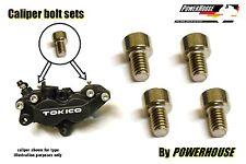 Stainless screw set pad retaining spring Tokico front caliper Suzuki GSXR F GSF