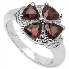 Ring 925 Sterling Silber-Rhodiniert 4 Granate 2,00Karat