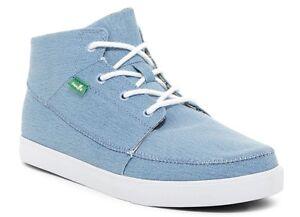 NWB Sanuk Men's Highrise Mid Blue Sneaker Size 11