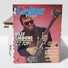 BILLY GIBBONS ZZ TOP WILL LEE Bireli Lagrene GUITAR PLAYER MAGAZINE March 1986