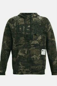 Under Armour Men's Project Rock Veteran's Day Camo Pullover XLarge SOLD OUT XL
