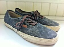 Vans CALIFORNIA Size M9 /W10.5 Dark Gray Distressed Denim Lace Up Shoes