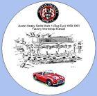Austin Healey Sprite Mark 1 (Bug Eye) 1958-1961 Factory Workshop Manual