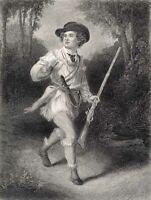 Revolutionary War DANIEL MORGAN'S RIFLEMEN RIFLES PATRIOT ~ 1882 Print Engraving